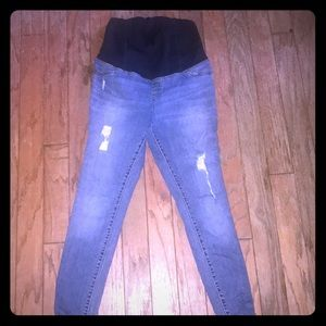 Woman's Maternity Skinny high waisted jeans